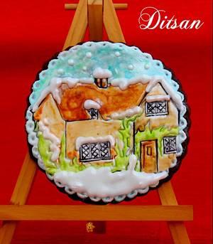 winter house - Cake by Ditsan