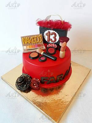 Make_up cake - Cake by Arty cakes