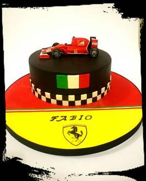 Ferrari f1 cake - Cake by Mariana Frascella