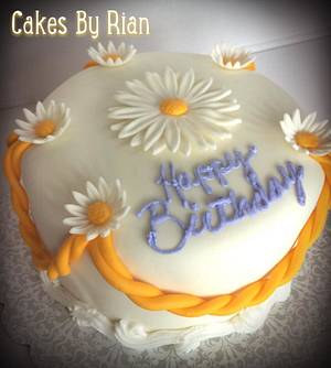 Daisy Cake - Cake by Cakes By Rian
