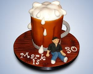 Too much beer!  - Cake by OfF ThE CuFf CaKeS!!