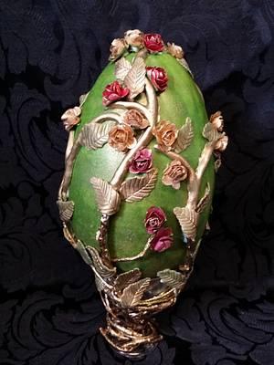 Wild Rose Garden-Huevos De Pascua Estilla Faberge - Cake by Sue's Sweet Delights