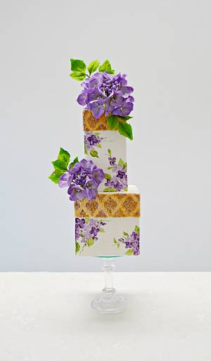"#CPCPrinceCollaboration ""Purple rain"" - Cake by Catalina Anghel azúcar'arte"