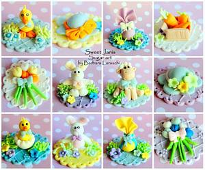 Easter Cupcakes Toppers - Cake by Sweet Janis