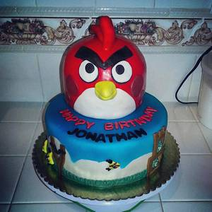 Angry Birds - Cake by Norma Angelica Garcia