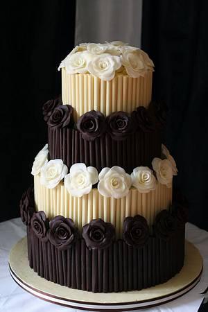 Chocolate wedding cake - Cake by BeesNees