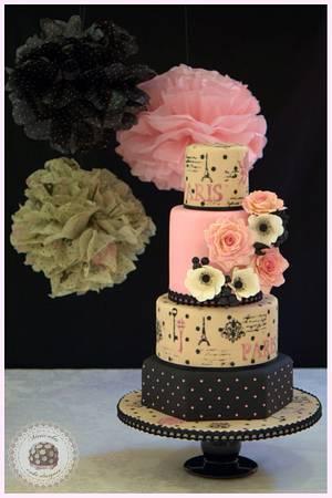 Mon Amour wedding cake  - Cake by Mericakes