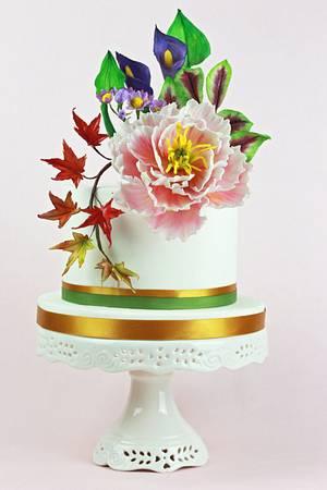 Bouquet Peonia - Cake by Ivan Zavala