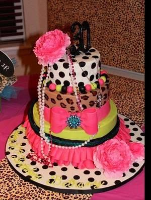 80s Fashion Cake -- Like Totally Awesome, Fur Sure! - Cake by Jenny Kennedy Jenny's Haute Cakes