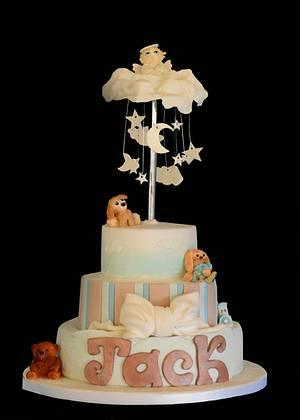 Christening Cake - Cake by DebsDuckCakes