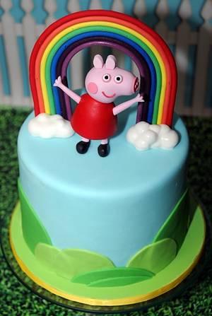 Rainbow Peppa - Cake by Trickycakes