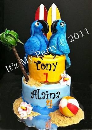 Rio & Pearl Birthday Cake - Cake by It'z My Party Cakery