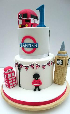 London Theme 1st Birthday Cake - Cake by The Rosehip Bakery