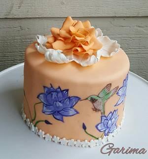 Purple lotus  - Cake by Garima rawat