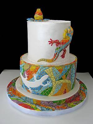 Mosaic cake /Inspired by Gaudi / - Cake by Marina Danovska