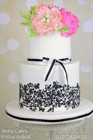 Wedding floral Cake  - Cake by BettyCakesEbthal