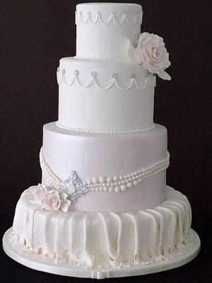 The Sugar Nursery - Vintage Glitter Wedding Cake - Cake by The Sugar Nursery - Cake Shop & Imaginarium