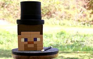 Magician Steve ~ Minecraft Cake - Cake by Little Apple Cakes