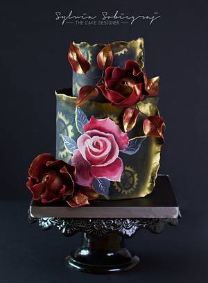 Steam Cakes- Steampunk collaboration. Handpainted cake - Cake by Sylwia Sobiegraj The Cake Designer
