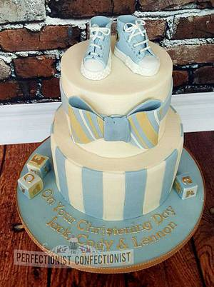 Jack, Cody & Lennon - Christening Cake - Cake by Niamh Geraghty, Perfectionist Confectionist