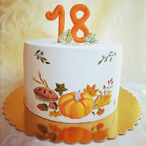 Autumn painting - Cake by Torturi de poveste