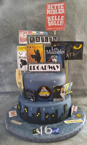 """Broadway Cake for Kailin - Cake by June (""""Clarky's Cakes"""")"""
