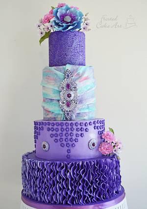 Purple Wedding Cake - Cake by Seema Acharya