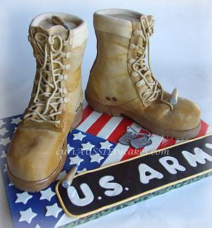 Army Boots cake step by step - Cake by CuriAUSSIEty  Cakes