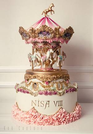 Carousel Cake - Cake by Kek Couture