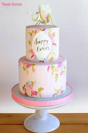 Floral Mantis Easter Cake - Cake by Hiromi Greer