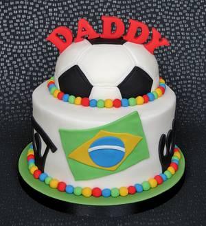 World Cup Birthday Cake - Cake by Pam