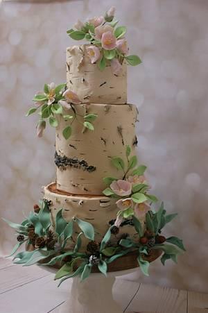 Birch Tree Cake - Cake by Margie