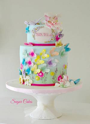 """""""Flying Butterflies"""" - Cake by Sugar Cakes"""