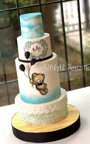 Baby Boy Babyshower Cake - Cake by Sihirli Pastane