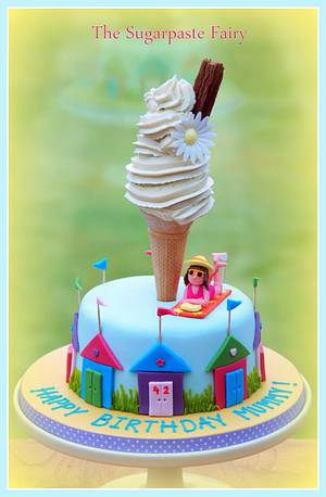 At the Seaside - Cake by The Sugarpaste Fairy