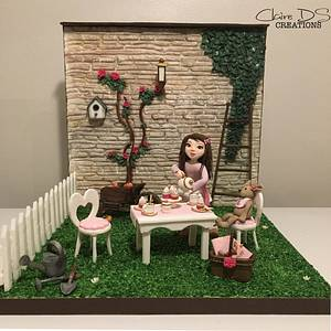 The Dinette In the garden - cake international London 2016 - Cake by Claire DS CREATIONS