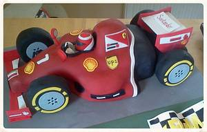 F1 Ferrari racing car cake - Cake by Catherine