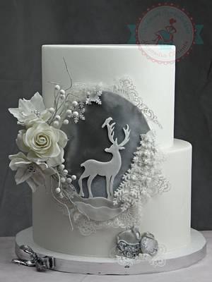 Elegant Xmas cake - Cake by Olanuta Alexandra