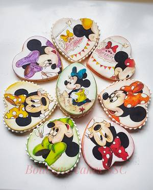 Minnie mouse cookies set  - Cake by DDelev