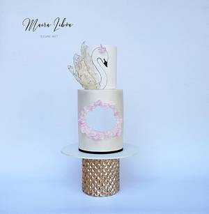 Swan  - Cake by Maira Liboa