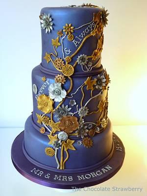 Steampunk-ish wedding cake - Cake by Sarah Jones