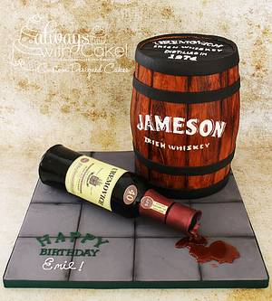 Jameson Whiskey Barrel - Cake by AlwaysWithCake