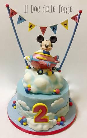 Baby Mickey Mouse aeroplane cake - Cake by Davide Minetti