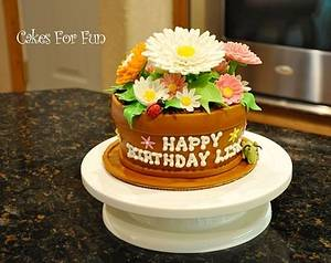 Flowerpot Cake - Cake by Cakes For Fun