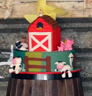 Farm Barn Cake - Cake by Lydia