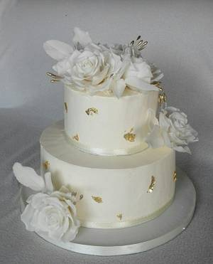 White and gold - Cake by Anka
