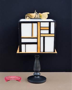 Art Deco 'Great Gatsby' Man Cake - Cake by The Custom Cakery