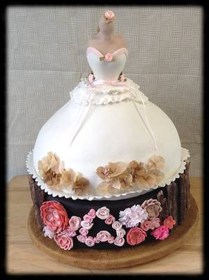 """Megan's Bridal Shower Cake - Cake by June (""""Clarky's Cakes"""")"""