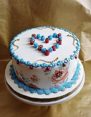 FLORAL HEART - Cake by Enza - Sweet-E