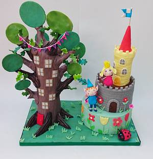 Ben and holly's little kingdom elf tree and castle  - Cake by The sugar cloud cakery